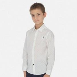 Koszula we wzory chłopięca Mayoral 6153-37 Biały