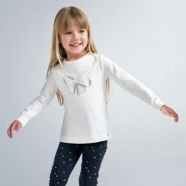 Koszulka z długim rękawem dziewczęca Mayoral 178-72 Kremowy