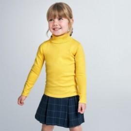Golf trykotowy dziewczęcy Mayoral 313-10 Żółty