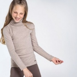 Sweter golf dla dziewczynki Mayoral 345-20 beż