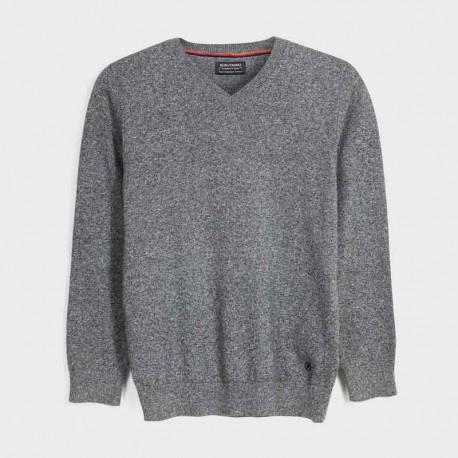 Sweter w serek chłopięcy Mayoral 354-75 szary