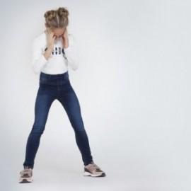 Spodnie jeans basic dla dziewczynki Mayoral 578-66 granat