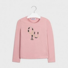Koszulka z długim rękawem dziewczęca Mayoral 830-67 różowa