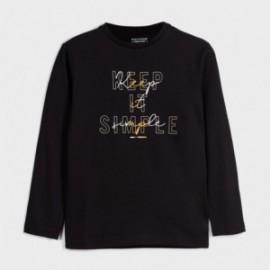 Koszulka z długim rękawem chłopięca Mayoral 842-67 czarna