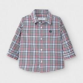 Koszula w drobną krateczkę chłopięca Mayoral 2133-88 Czerwona