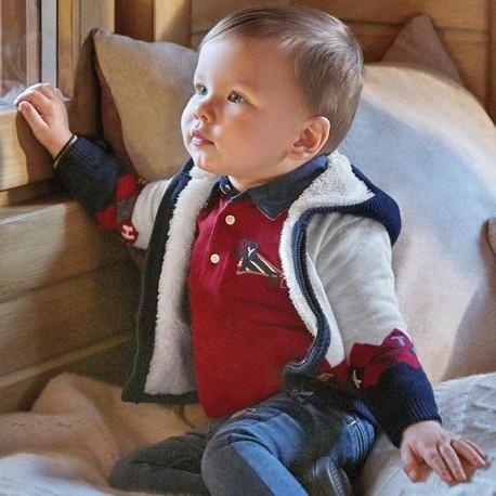 Sweter ocieplany dla chłopców Mayoral 2355-54 Bordowy