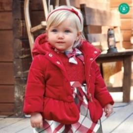 Kurtka welurowa dla dziewczynki Mayoral 2411-31 czerwona
