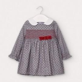 Sukienka w kropki dziewczęca Mayoral 2956-68 szara