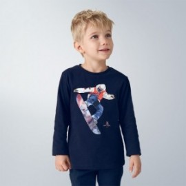 Koszulka z długim rękawem dla chłopców Mayoral 4039-85 Granatowa