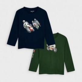 Komplet koszulek chłopięcych Mayoral 4047-43 granat/zieleń