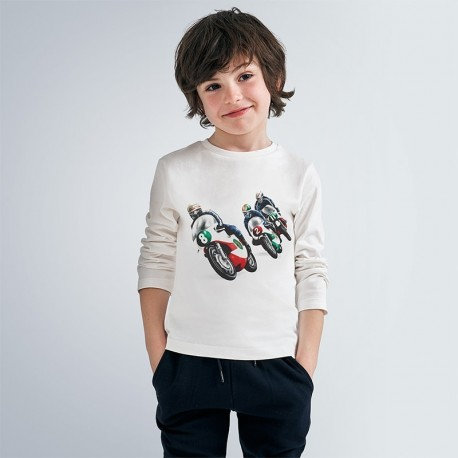 Komplet koszulek chłopięcych Mayoral 4047-41 biała/czerwona