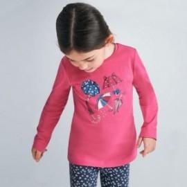 Koszulka z długim rękawem dziewczynka Mayoral 4070-47 różowa