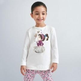 Koszulka z długim rękawem dziewczynka Mayoral 4070-49 kremowa
