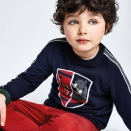 Sweter z haftem chłopięcy Mayoral 4330-65 Granatowy
