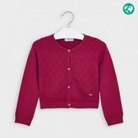 Sweterek trykotowy dziewczęcy Mayoral 4349-79 Wiśniowy