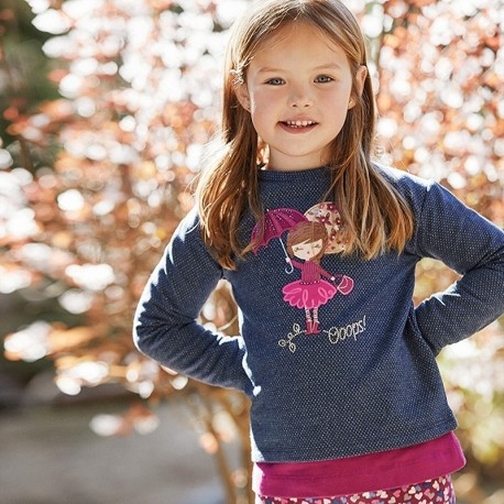 Bluza bez kaptura dziewczęca Mayoral 4404-56 Granatowy