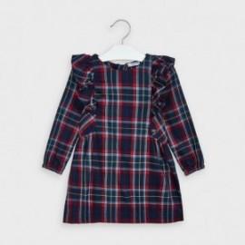 Sukienka w kratkę dla dziewczynek Mayoral 4977-66 granatowa