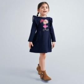 Sukienka dzianinowa dla dziewczynki Mayoral 4982-36 Granatowa