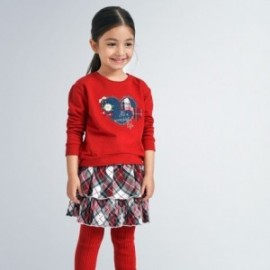 Komplet bluza i spódnica dziewczynka Mayoral 4992-65 czerwony