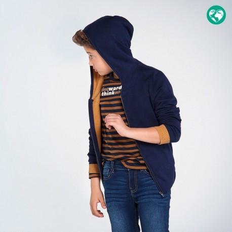 Bluza z kapturem chłopięca Mayoral 7323-15 Granatowy
