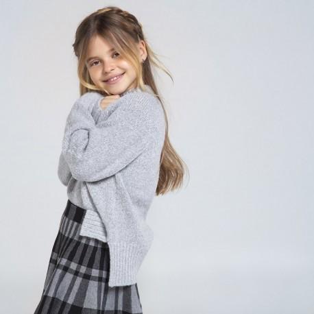 Sweter z cekinami dziewczęcy Mayoral 7324-21 Szary