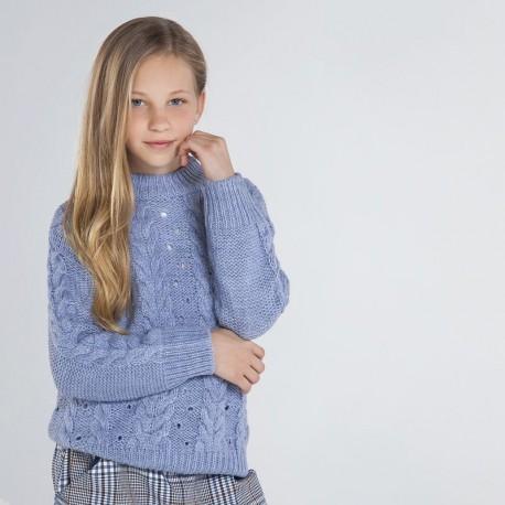 Sweter dla dziewczynki Mayoral 7325-10 niebieski