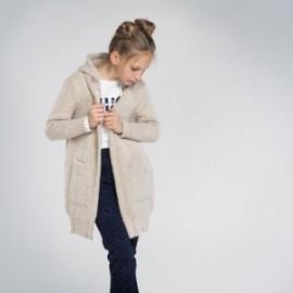 Sweter długi dziewczęcy Mayoral 7334-76 Beżowy