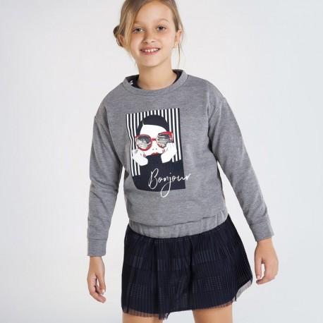 Bluza dla dziewczynki Mayoral 7401-86 Szary