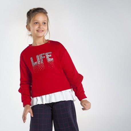 Bluza z cekinami dziewczęca Mayoral 7402-54 Czerwony
