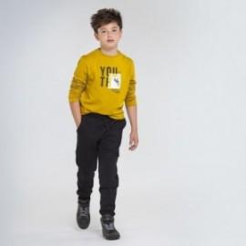 Spodnie dzianinowe dla chłopców Mayoral 7525-41 Czarne