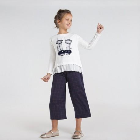 Spodnie kuloty kratę dla dziewczyn Mayoral 7544-6 granatowe