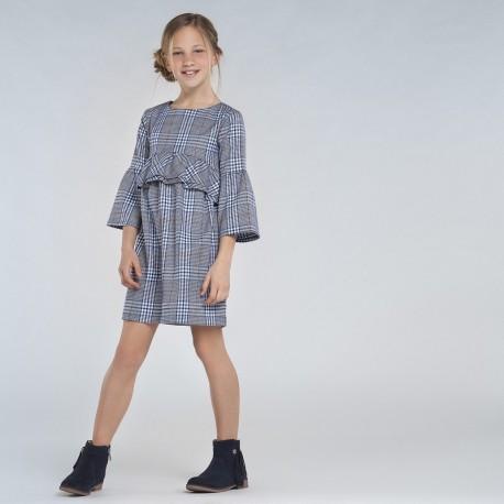 Sukienka w kratę dziewczęca Mayoral 7973-44 Granatowy