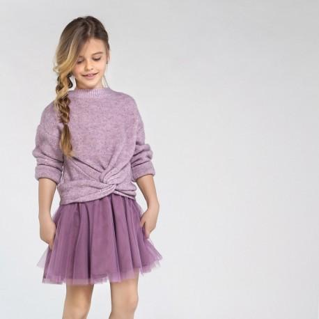 Sukienka łączona dziewczęca Mayoral 7974-11 Fioletowy