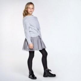 Sukienka łączona dziewczęca Mayoral 7974-10 Szary