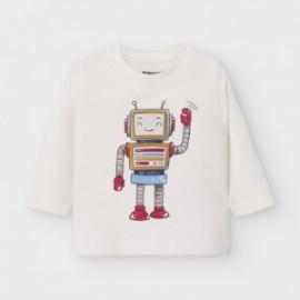 Koszulka z długim rękawem chłopięca Mayoral 2040-71 Śmietanka