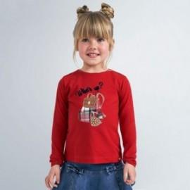 Koszulka z długim rękawem dziewczęca Mayoral 4067-81 czerwona
