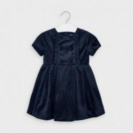 Sukienka aksamitna dla dziewczynek Mayoral 4972-93 granatowa