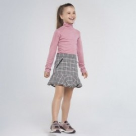 Spódnica w kratkę dla dziewczynki Mayoral 7947-95 Czarna