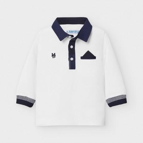 Koszulka polo dla chłopca Mayoral 2121-29 Biały
