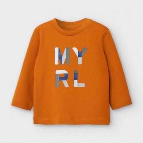 Koszulka z długim rękawem dla chłopców Mayoral 108-42 pomarańczowa