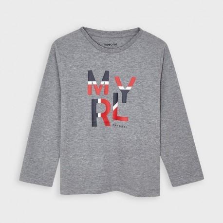 Koszulka z długim rękawem chłopięca Mayoral 173-51 szara