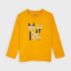 Koszulka z długim rękawem chłopięca Mayoral 173-55 żółta