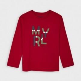 Koszulka z długim rękawem chłopięca Mayoral 173-49 czerwona