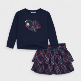 Komplet bluza i spódnica dziewczynka Mayoral 4992-66 Granatowy