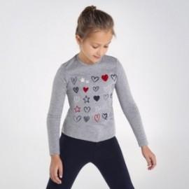 Koszulka z długim rękawem dziewczęca Mayoral 7073-41 Szary