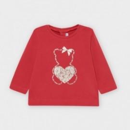 Koszulka z długim rękawem dziewczęca Mayoral 116-67 Czerwony