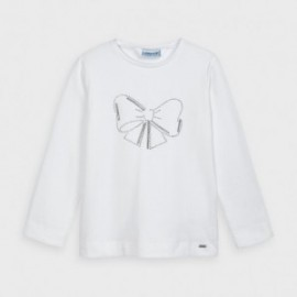 Koszulka z długim rękawem dziewczęca Mayoral 178-76 Biały