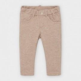 Spodnie z dzianiny dziewczęce Mayoral 560-39 Beżowy