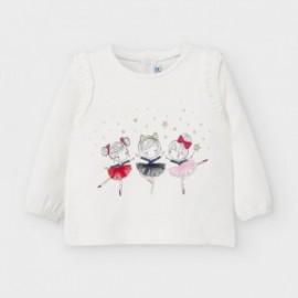 Koszulka z długim rękawem dziewczęca Mayoral 2056-21 Krem-czerwony