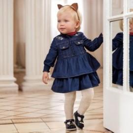 Sukienka jeansowa dla dziewczynki Mayoral 2962-5 Granatowy